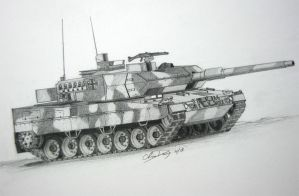 Leopard 2A6 by ronincloud