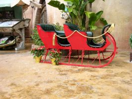 Santa Sleigh stock by FairieGoodMother