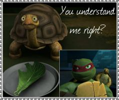 TMNT:: Raph and Spike: You understand me right? by Culinary-Alchemist