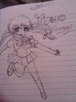 my attempt to draw yuno gasai by punkrockgirl555