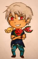 Gilbert chibi by APHnation-Prussia