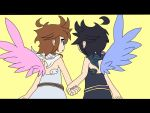 Electric Angels - Pit and Dark Pit by IvanSonicStory