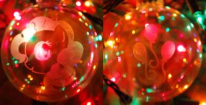 Pinkie Pie Glass Ornament by Clinkorz