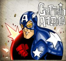 Captain America  new style by Lapsus-de-Fed