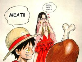 Luffy X Boa 15th by xchokoxotakux
