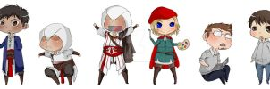 Assassin's Creed Chibi Request by Rainbow-Bandaid