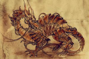 Steampunk Dragon by Angelinell