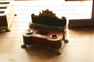 Office Setting Inkwell detail by PzychoStock