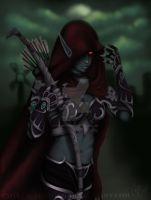 Lady Sylvannas Windrunner by caitlincaitiecait