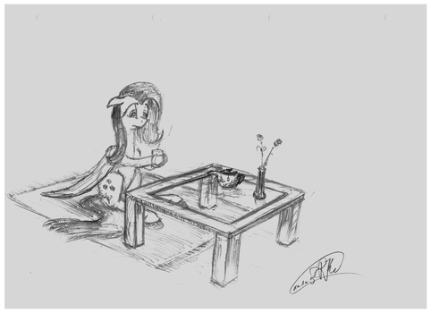 Flutters Teatime by RadiatingCalm