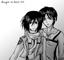 Eren and Mikasa v2 by Daniimon