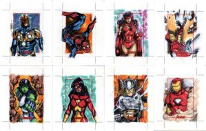 sketch cards - avengers 1 by adagadegelo