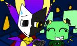 Dimentio x Mimi: Courting by TheLegendofSmash