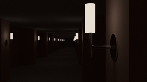 Lamps in a corridor by dani8190