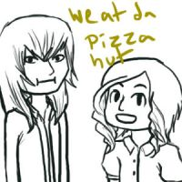 WE AT DA PIZZA HUT by vynn-beverly