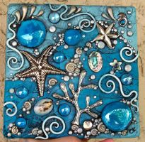 Tidepool Mosaic Tile by MandarinMoon