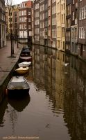 Boats in Amsterdam by Cailleach-Verinen