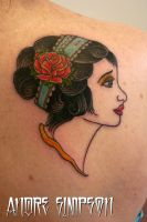 Gypsy girl and rose tattoo 1 by ERASOTRON