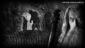 Gandalf the Grey 2 [BW] by Mithrandir29