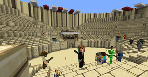 Minecraft gladiator tournament by aborigene7