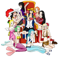 60k hits Luffy harem v2 by Hapuriainen