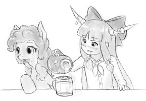 spiking the cider by AlloyRabbit