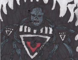 Darkseid black lantern by ChahlesXavier