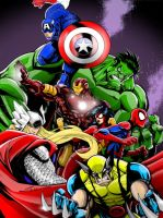 AVENGERS ASSEMBLE! by CThompsonArt