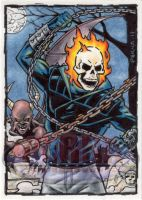 Ghost Rider Sketch Card by tonyperna