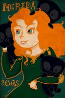 Brave - Merida and Cubs by VooDooling