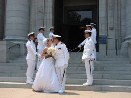 Navy Wedding Sword Archers 5 by FantasyStock