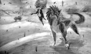 Twilight Princess done w/ Mechanical Pencil by FlippingChicken