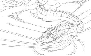 Smaug Sleeping WIP by DevinNath