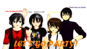 . : LET'S GO PARTY  : . by vocaloidandlegolover