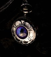Gothic Pocket Watch - Regular Purple Aubergine by LadyPirotessa