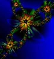 Evening Flowers - ultra fractal by SvitakovaEva