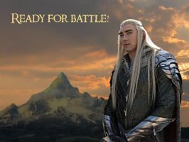 King Thranduil ready for battle! by Menkhar