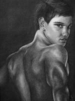 Taylor Lautner as Jacob Black by blondecrsity