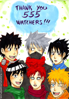 Thank You 555 Watchers! by elizarush