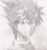 Hiei sketch by Yuyufreak101