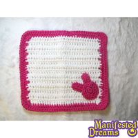 Crocheted Bunny Wash Cloth by ManifestedDreams