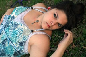Lounging in the grass by xcr33chx