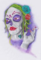 Day of the dead beauty by WhereIsJambon