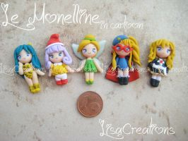 small cartoon characters by LisaCreations by LisaCreations
