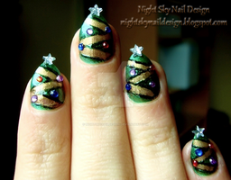 Christmas Trees by nightskynaildesign