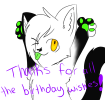 Thanks for the birthday wishes by Casper3703