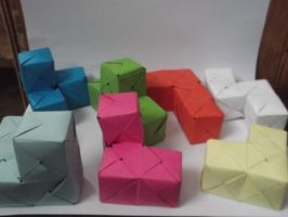 [Modular Origami] Soma Cube (Parts) by UltraBill