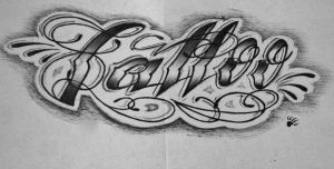 Tattoo Lettering - 1 by 814CK5T4R