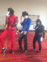 Three Michael Jacksons at ConnectiCon 2012 by Glam-Baby