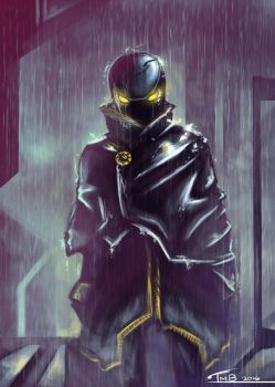 Assassin in the Rain by MikoKristy